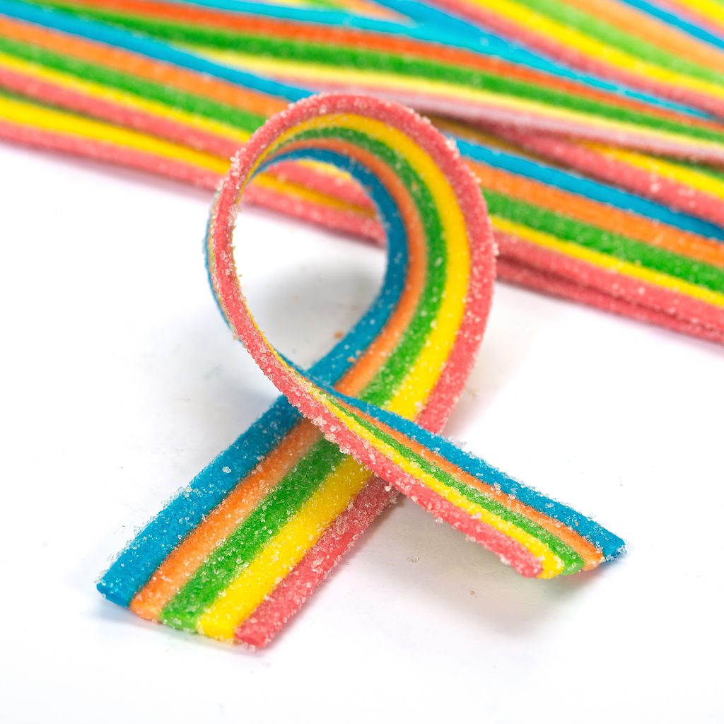 Rainbow Sour Belts Bulk
