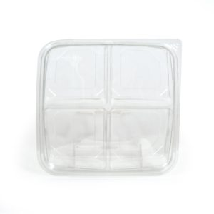 """4 Cell Square Tray w/Lid 7"""""""
