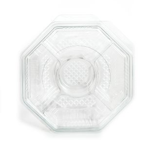 """5 Cell Octagon Tray w/Lid 10"""""""