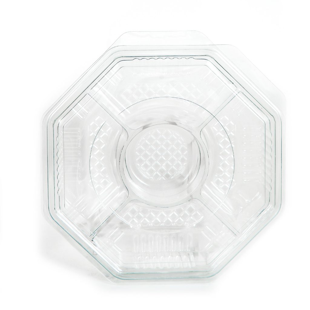 5 Cell Octagon Tray w/Lid 10""
