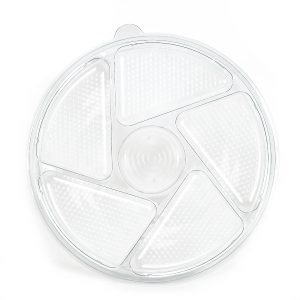 """6 Cell Round Tray w/Lid 13"""""""