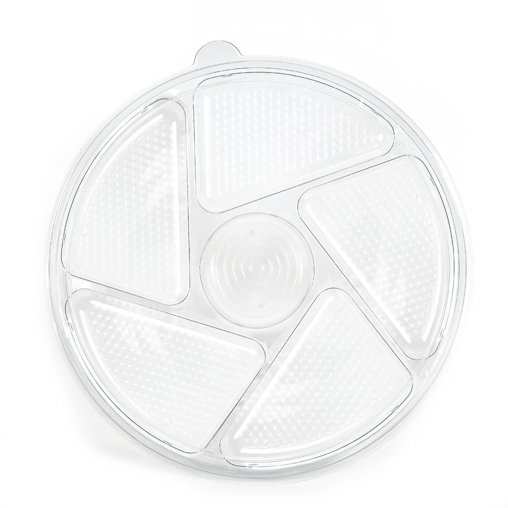 6 Cell Round Tray w/Lid 13""