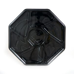 """7 Cell Black Octagon Tray w/Lid 13"""""""