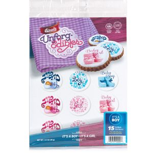 Its A Boy Edible Stickers