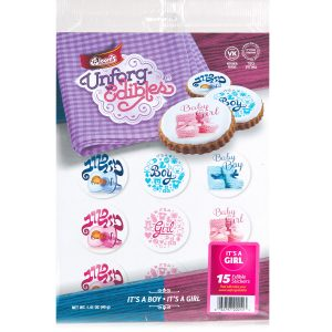Its -A Girl Edible Stickers