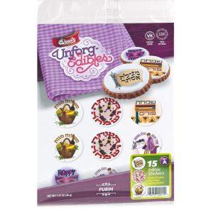 Purim 1 Edible Stickers