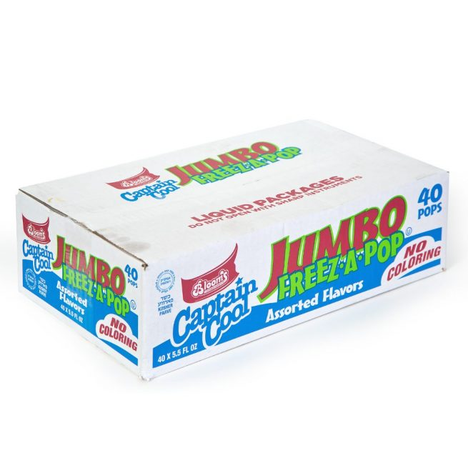Jumbo No Color Freeze Pops 40 ct