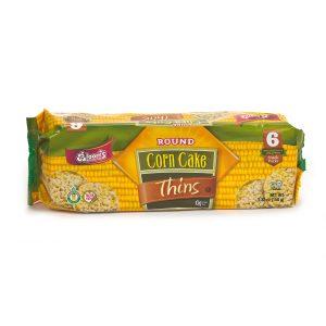 Round Corn Cake Thins 4 pc 6 Pk