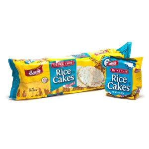 Ultra Thin Rice Cake Round Plain 6 Pk / 6 pc