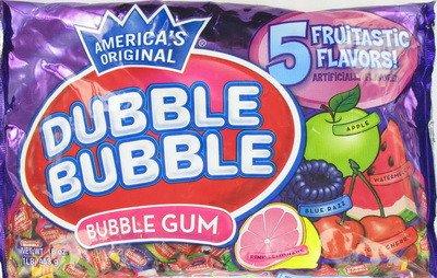 Dubble Bubble 1lb Twist Wrap 5 Flavors