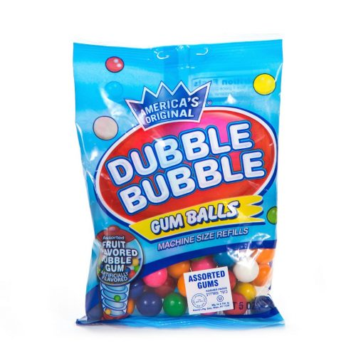 Dubble Bubble Asst Gumballs 5oz