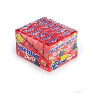 Mento S/F Gum Red Fruit-Lime 12pc