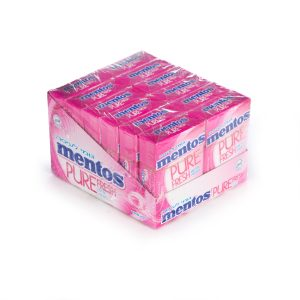 Mento S/F Pure Fresh Fruit-Mint Gum 12pc