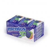 Mento 3D Gum Blackberry/Kiwi/Strawberry
