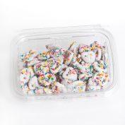 White Chocolate Mini Pretzels Sprinkels