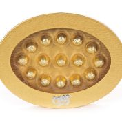 Gold Oval Truffle Gift Box 15pc