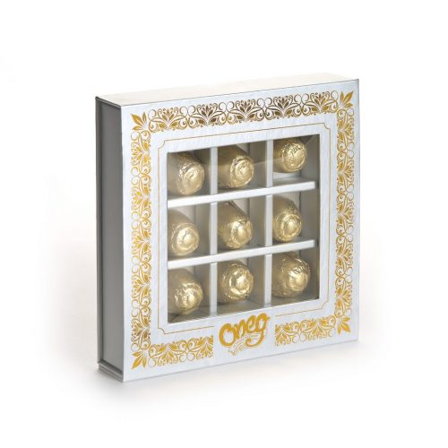 Gold Square Truffle Gift Box