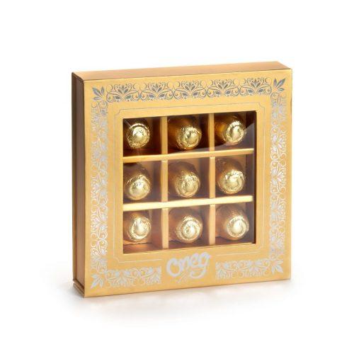 Silver Square Truffle Gift Box