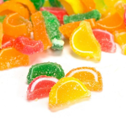 Mini Fruit Slices ASSORTED Unwrapped Bulk (P)