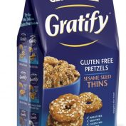 Gratify GF Pretzel Sesame Thins