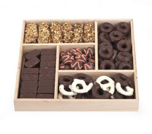 Large Wooden Square Chocolate Platter