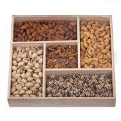 Large Wooden Square Nut Platter