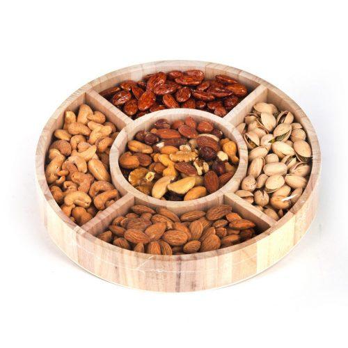 Round Wooden Nut Platter