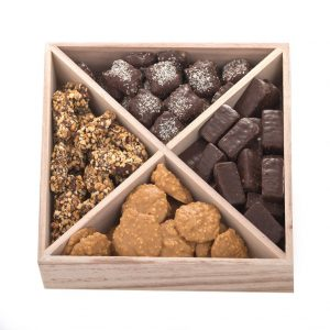 Small Wooden Square Chocolate Platter