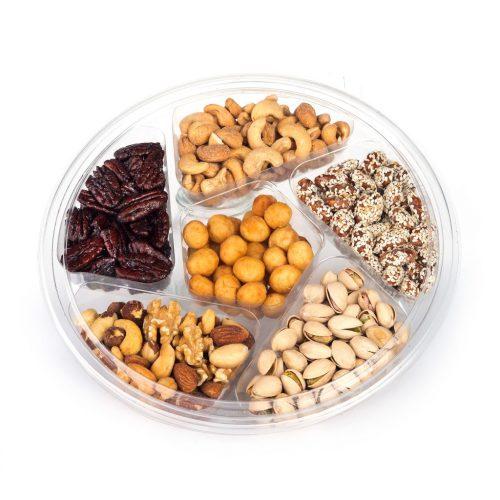 Large Round Gourmet Nut Platter (CRC)