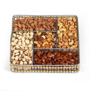 Squar Wire Medium Nut Platter (CRC)