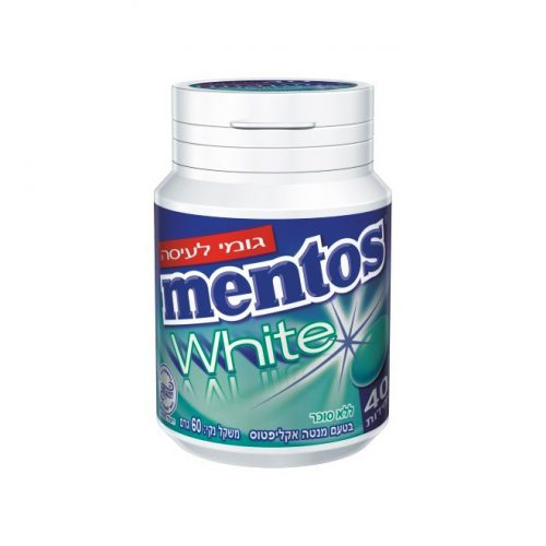 Mentos Gum White Mint Eucalyptus 40 pc