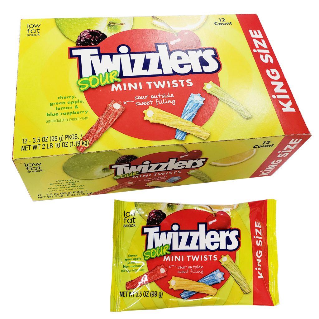 KING SIZE Twizzlers Sour Mini Twists
