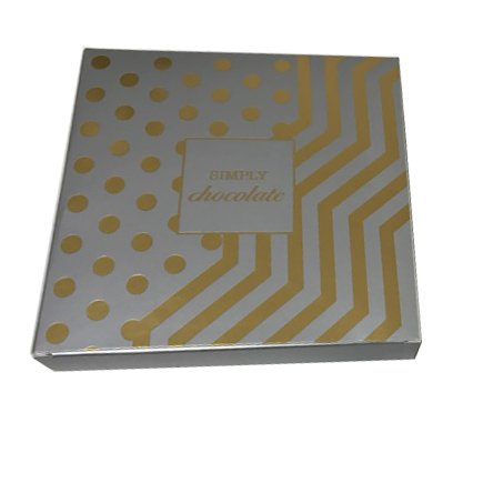 "Simply Chocolate Gift Box (Gold & Silver) 6"" square"