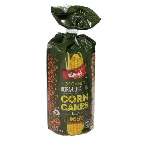 Organic Corn Cake Ultra Thin Rounds / Linseed