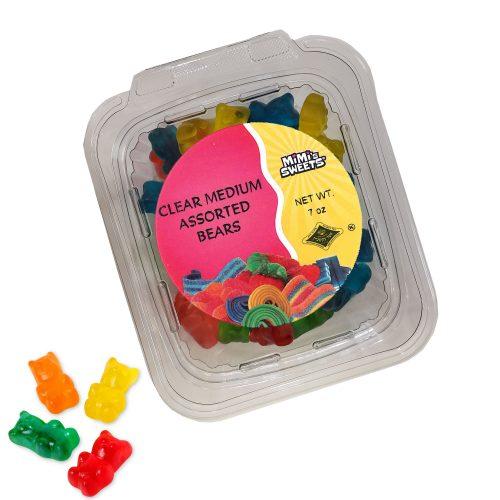 Clear Medium Assorted Bears