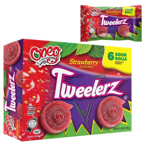 Tweelerz Sour Rolls Strawberry