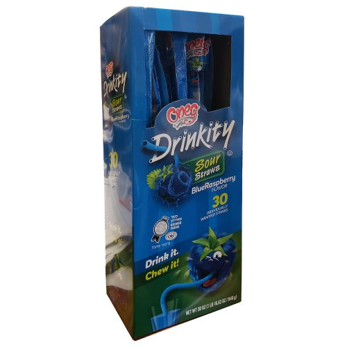 Drinkity Sour Straws Bluraspberry