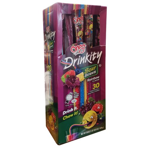 Drinkity Sour Straws Rainbow